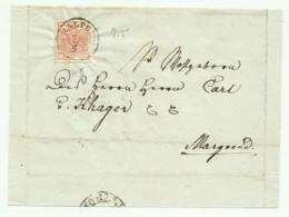 FRANCOBOLLO 3 KREUZER KALTERN  1855   SU FRONTESPIZIO - Usati