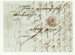 FRANCOBOLLO DA 6  KREUZER HOPGARTEN   1852  SU FRONTESPIZIO - Usati