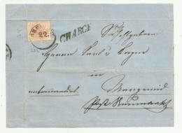 FRANCOBOLLO 3 KREUZER   1858  SU FRONTESPIZIO - Oblitérés