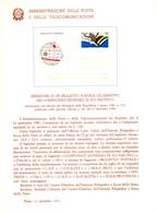 Italia 1981 BOLLETTINO ILLUSTRATIVO N. 20 BIGLIETTO POSTALE:CAMPIONATI MONDIALI DI SCI NAUTICO. - 6. 1946-.. Republic