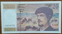 BILLET  20 FRANCS DEBUSSY 1997 * V059 360079 * Très Léger Pli Vertical (3) - 1962-1997 ''Francs''