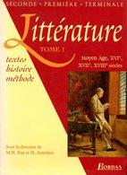 Littérature (complet Des 2 Tomes) : Textes, Histoire, Méthode Par Prat Et Aviérinos (ISBN 2040284109 EAN 9782040284107) - Livres, BD, Revues