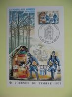 Carte  - Journée Du Timbre  1971  Mantes-La-Jolie - France