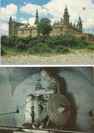 Kronborg Castle Denmark - 4 Postcards.  B-3552 - Castles