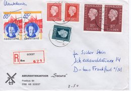 23 II 81   Aangetekende Brief Van SOEST Naar Frankfurt - Storia Postale