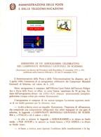 Italia 1980 BOLLETTINO ILLUSTRATIVO N. 03 AEROGRAMMA:CAMPIONATI MONDIALI GIOVANILI DI SCHERMA. - 6. 1946-.. Republic