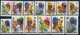 Flowers And Guinean Women - Guinea 1966 -  Set Imperforate MNH** - Guinée (1958-...)