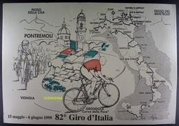 RARISSIMA CARTOLINA 82° GIRO D'ITALIA - CURVA DELLA PACE PONTREMOLI - Wielrennen