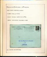 BELGIQUE COL OUVERT TIMBRES PERFORES USINES ACIERIES ALLARD CHARLEROI 1942 - 1936-1957 Offener Kragen