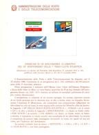 Italia 1980 BOLLETTINO ILLUSTRATIVO N. 15 AEROGRAMMA:1° TRASVOLATA ATLANTICA. - 6. 1946-.. Republic