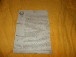 DOCUMENT ANCIEN DE 1806.../ A ETUDIER PARTAGE...4 PAGES ECRITES / CACHET REP.FRA. 50 CEN. - Manuscrits