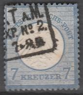 Deutsches Reich    .     Michel       .    10  Dunne Stelle     .       O        .      Gebraucht - Deutschland