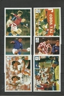 GAMBIA   Soccer Football  EURO 1996  Germany Winners!  6 SS With Overprints Perf. - Eurocopa (UEFA)