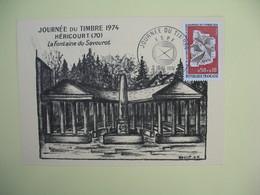 Carte  - Journée Du Timbre  1974  Héricourt - France