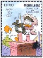 806 Sierra Leone Donald Duck Chimney Sweeper Ramoneur MNH ** Neuf SC (SIE-47c) - Métiers