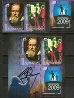 URUGUAY.Année Mondiale De L'Astronomie (Galilée),  Série + Bloc-feuillet Neufs ** Année 2009. Côte 16 Euro - Astronomie