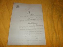 DOCUMENT ANCIEN DE 1881.../ A ETUDIER ...11 PAGES ECRITES / MARSEILLE. CACHET TIMBRE 2/MES 10 EN SUS 1F50C... - Manuscrits