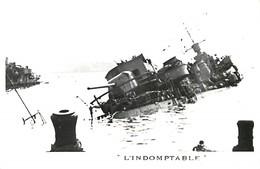 Themes Div-ref AA97- Bateaux - Marine De Guerre - Sabordage De Toulon - Var -guerre 1939-45-  L Indomptable  - - Guerra