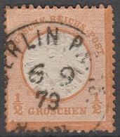 Deutsches Reich    .     Michel       .    18       .       O        .      Gebraucht - Deutschland