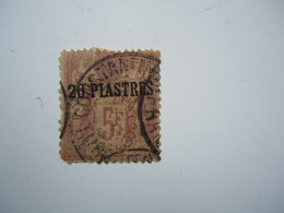 FRANCE LEVANT IN TURKEY STAMPS 5 FR POSTMARK CONSTANTINOPLE - France (former Colonies & Protectorates)