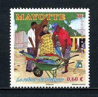 MAYOTTE 2011  N° 263 ** Neuf MNH Superbe Poissons Pêcheur Fishes Fishing Faune Marine Fauna - Mayotte (1892-2011)