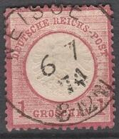 Deutsches Reich    .     Michel       .    19       .       O        .      Gebraucht - Oblitérés