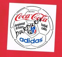 1 Autocollant Championnat De France Football Cadets Coca Cola Adidas - Autocollants