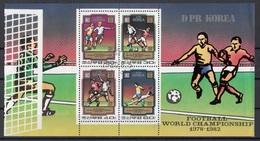 DPR Korea 1980 Sc. 1979a World Cup Soccer Championship 1978·1982 Sheets Perf. CTO - Corée Du Nord