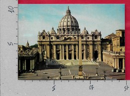 CARTOLINA VG VATICANO - Piazza E Basilica S. Pietro - 10 X 15 - ANN. 1975 ANNO SACRO - Vatican
