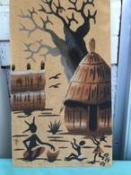 Tableau De Sable Sur Bois  - Dakar 2009 - - Cendriers