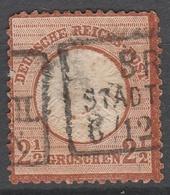Deutsches Reich    .     Michel       .    21   Dunn     .       O        .      Gebraucht - Deutschland