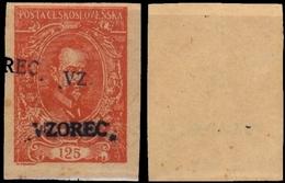 Print Proof President Masaryk 1920 125h, (*) Red - Ungebraucht
