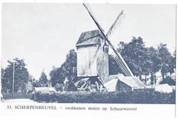 Scherpenheuvel: Verdwenen Molen Op Schuurwouver ( 2 Scans) - Scherpenheuvel-Zichem