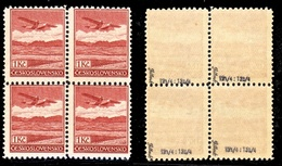 Airmail **1K 1930 Perforated 12 1/4 X 13 3/4, Block-of-4 - Ungebraucht