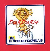 1 Autocollant Crédit Lyonnais Lion Vélo - Autocollants