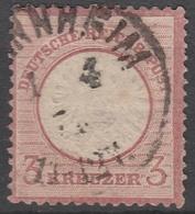 Deutsches Reich    .     Michel       .    25      .       O        .      Gebraucht - Oblitérés
