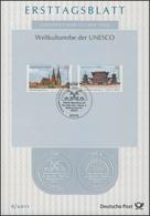 ETB 06/2011 UNESCO - Altstadt Regensburg, Mit Gemeinschaftsausgabe Nara, Japan - FDC: Panes