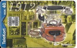 CARTE-PUCE-NORVEGE-SC7-05/00-TELEPHONE ERICSSON 1912-MED 20 LINJER--TBE - Norvège