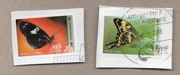 Privatpost - LMF - Gest. - 2 W Schmetterlinge ( Heliconus, Papilio) - Schmetterlinge