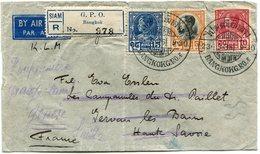 SIAM LETTRE RECOMMANDEE PAR AVION DEPART BANGKOK 23-9-36 POUR LA FRANCE PUIS REEXPEDIEE EN SUISSE - Siam