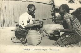 "2587 "" ZAMBEZE-LA SALUTATION INDIGENE- 1er MOUVEMENT "" CARTOLINA POSTALE ORIGINALE NON SPEDITA - Zambia"