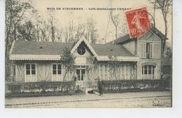 PARIS - XIIème Arrondissement - Bois De Vincennes - CAFÉ RESTAURANT DE LA CARTOUCHERIE - Arrondissement: 12