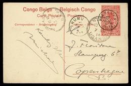 BELGIAN CONGO. 1914. Mangara. Via Entebe/Uganda. Blomhasse. Irumu To Copenhagen. VF. - Congo Belga