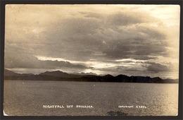 PANAMA. C.1920. Early Photo B/W Of Panama/nightfall. Postcard Size. - Panama