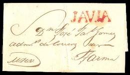 """PERU. C.1810. Javia To Tarma. E With Red """"JAVIA"""" (xxx/RR). Superb Strike+scarce. - Pérou"""