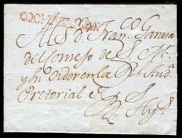"""BOLIVIA. C.1800.Cochabamba To Buenos Aires/Argentina. Colonial E.with Red Stile """"COCHABAMBA"""" (xx/xxx), Complete Strike. - Bolivia"""