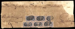 CUBA. 1864. Holguin A Gibara. Plica Judicial Con 11 Sellos De 1 Rl Azul/s/rosa ( Ed Ant 11ºx110, Mat.parrilla, Fechador - Non Classificati