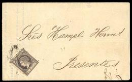 CUBA. 1866 (2 Enero). Ed 11º. Habana Uso Local. Impreso. Rarisimo Sello En Carta, Con Margenes Ctos, Mat.parrilla Abiert - Cuba