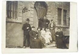 """Cpa Carte-photo """" Souvenir Du Luxembourg """", Groupe De Personnes Sur Palier De Maison - Cartoline"""