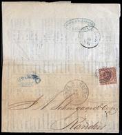DENMARK. 1861 (4 Oct). GB-GERMANY-DENMARK. Newcastle-on-Tyne To Randers/Denmark (18 Oct). Printed Matter Forwarded To Ha - Danemark